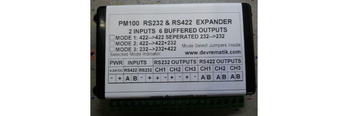 PM100 NX100 RS232 RS422 EXPANDER