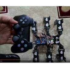 v1.0 Örümcek Robot Servo PS3 Joystick Kontrol