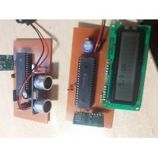 v3.0 Ultrasonik RF433 HCSR04 Mesafe Olcer