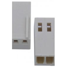 2 Pin 2.54mm Dişi Konnektör Pinsiz
