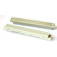41612 2 row 64 Pin 2.54mm Dişi Konnektör 180 Derece