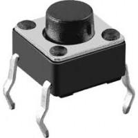 Switch Buton Tact 6x6x18mm 4 pin SİYAH THT