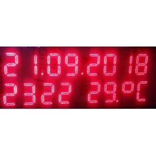 LT001 Saat Tarih Sıcaklık 7 Segment 15 digit Panel Sürücü Kartı