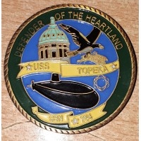 USS TOPEKA  SSN 754 SUBMARINE COIN DEFENDER OF THE HEARTLAND US NAVY